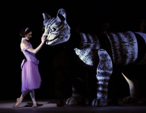 Sarah Lamb and the Cheshire Cat, photo by Dave Morgan ©