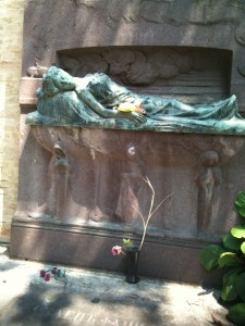 At St Michele cemetery, near Diaghilev's grave