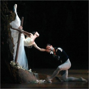 Giselle, Act II, Diana Vishneva and Marcelo Gomes, photo Andrea Mohin/The New York Times
