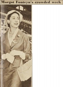 Margot Fonteyn at Royal Randwick racecourse