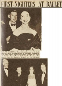 Margot Fonteyn, with Dr John Fulton, in Sydney after opening night, 5 June 1957