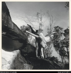 Tamara Toumanova and Paul Petroff at French's Forest, Sydney, 1940