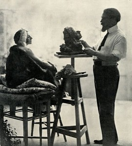 Anna Pavlova sitting for the sculptor Seraphin Soudbinine