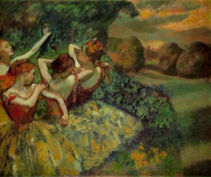 Four Dancers, Degas, c. 1899
