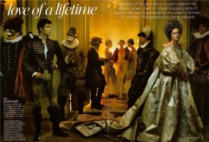 Roberto Bolle as Romeo and Coco Rocha as Juliet. US Vogue, 2008
