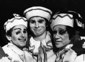 Wayne Sleep, Rudolf Nureyev and Alexander Grant, 1975