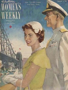 Queen Elizabeth and Prince Philip, Women's Weekly cover, 1954