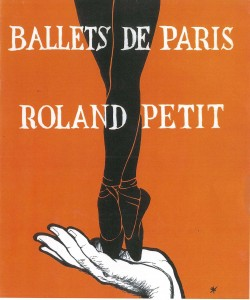 Ballets de Paris, program cover 1953