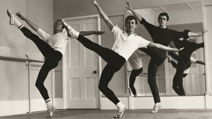 Colin Peasley, Kelvin Coe and Barry Moreland rehearsing in the Australian Ballet studios in 1964, photo © Terry Phelan.