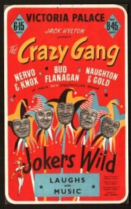 Poster for Jokers Wild, starring the Crazy Gang, 1954