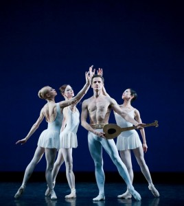 Apollo,  English National Ballet. Taken at a gala performance at Sadlers Wells in tribute to the careers of Thomas Edur and Agnes Oaks, photo © Patrick Baldwin.