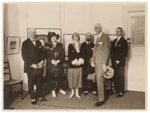 to R; unidentified couple, Anna Pavlova, Lucien Wurmser,  James Stuart MacDonald, Mieczyslaw Pianowski