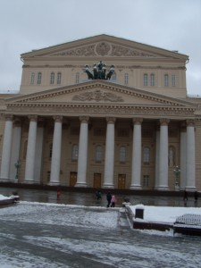 Bolshoi Theatre facade, January 2012