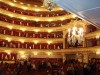 Bolshoi Theatre main stage auditorium, the audience scatters before the final calls