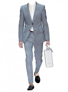 Suit by Gucci, shirt by Patrick Ervell, shoes by Michael Bastian