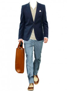 Jacket by Louis Vuitton, pants by Prada, shirt by Ermengildo Zegna, shoes by Burberry Prorsum