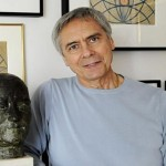 John Neumeier at home, with Nijinsky drawings in the background, photo © dpa