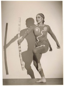 Beth Dean as the Initiate, Corroboree, 1954, courtesy Mitchell Library, State Library of NSW, PXA 739/1867