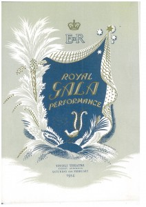 Royal Gala program, Tivoli Theatre, Sydney, 6 February, 1954