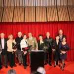 left to right: Jan Megna (formerly Jan Melvin), Colin Peasley, Margaret Akerman, Garth Welch, Marilyn Jones, Greg Khoury, Ramona Ratas, Robert Olup, Heather Macrae, Ian Rannard and Patrina Coates. Photo: Samantha Eedle