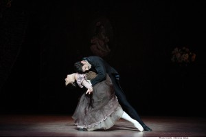 Andrew Killian as Onegin and Madeleine Eastoe as Tatiana in the Australian Ballet's Onegin, Act III, photo, © Branco Gaica