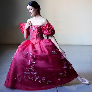 Amber Scott in costume for Onegin Act III, scene 1, photo © Lynette Wills