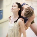 Amber Scott and Adam Bull in rehearsal for Onegin, photo © Lynette Wills