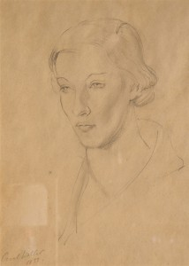 Tatiana Riabouchinska, 1933, drawing by Cecil Waller