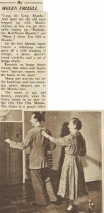 Keith Bain teaching the Mambo, Australian Women's Weekly, 20 April 1955