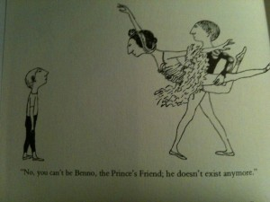 Edward Gorey's Benno from The Lavender Leotard