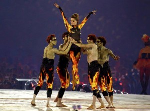 London 2012 closing ceremony:   Edward Watson, Jonathan Cope, Darcey Bussell, Gary Avis and Nehemiah Kish: photo © Reuters/Gary Hershorn