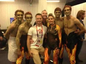 Christoper Wheeldon, Alistair Marriott and Darcey Bussell (centre) flanked by the four Royal Ballet principals