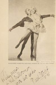 Paul Petroff's signature and message in Complete Book of Ballets by Beaumont
