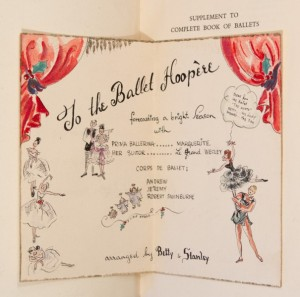 An inscription in honour of Wesley Hooper in Supplement to the Complete Book of Ballets