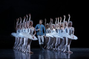 Adam Bull and artists of The Australian Ballet in Swan Lake. Photo © Jeff Busby