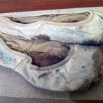 Nureyev's autographed shoes