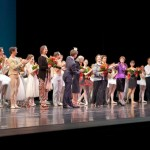 Australian Ballet gala curtain call, photo © Australian Ballet gala curtain call, front row, Sofiane Sylve and Pierre-Francois Vilanoba, Julie Kent, Maina Gielgud, David McAllister, Dame Margaret Scott, Marilyn Jones, Marilyn Rowe, Naoki Takagishi and Mizuka Ueno  photo © Filip Konikowski
