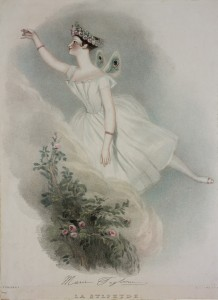 Marie Taglioni as La Sylphide, Alfred Edward Chalon and Richard James Lane, lithograph, coloured by hand, London, Victoria & Albert Museum