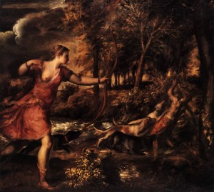 Titian, The Death of Actaeon, about 1559-75, Photo © The National Gallery, London