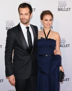Benjamin Millepied with his wife, Natalie Portman at New York City Ballet's spring gala, 2012, photo © C.Smith/ WENN.com