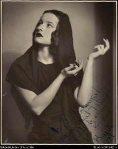 Brigitte Kelly in costume for Choreartium, 1938 or 1939, photo  © Spencer Shier, National Library of Australia