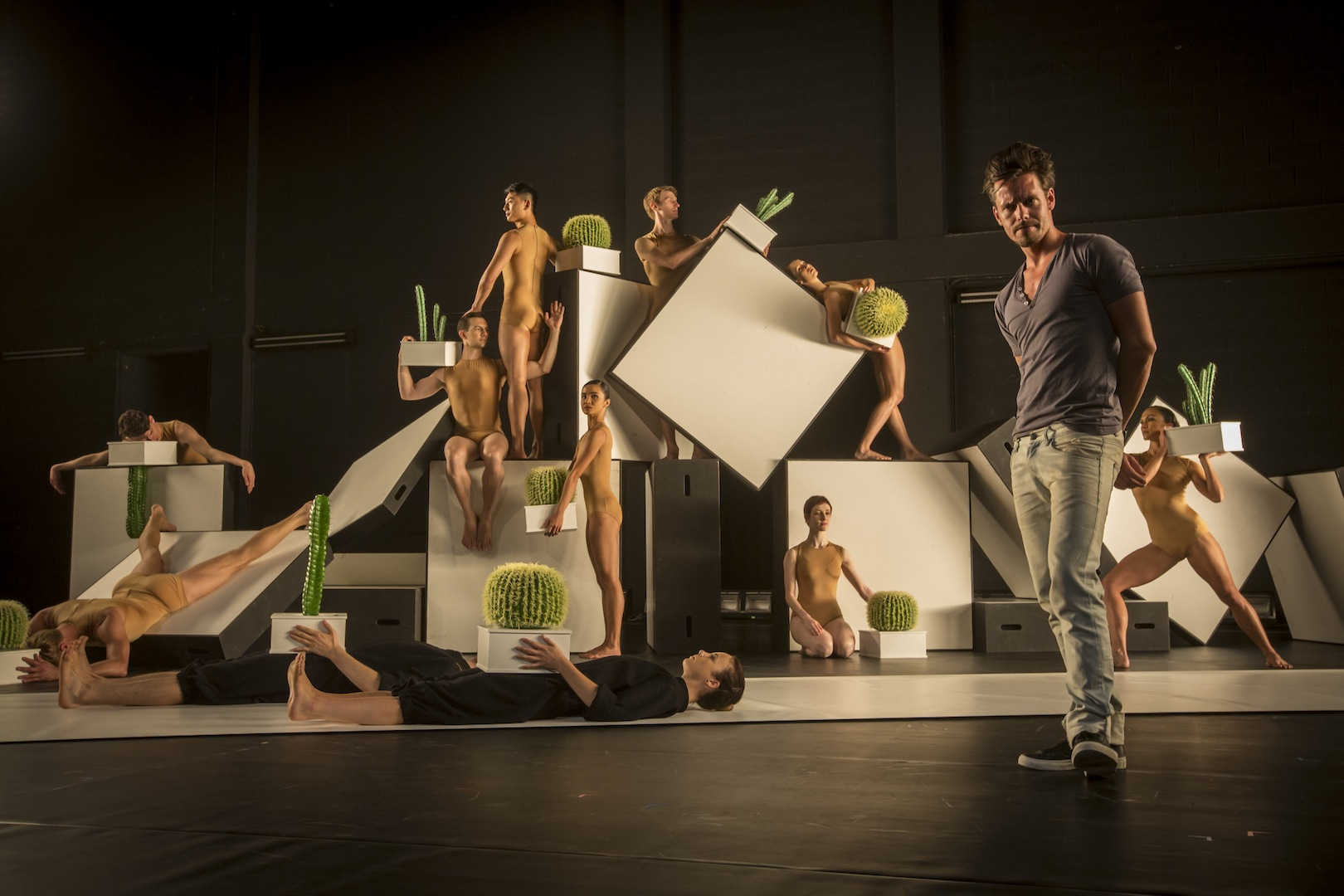 Swedish Choreographer Alexander Ekman And The Sydney Dance Company Dancersin A Sequence From Cacti Photo By Peter Greig