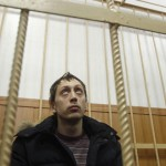 Pavel Dmitrichenko in a courtroom in Moscow on 7 March. Photo © Associated Press/Alexander Zemlianichenko