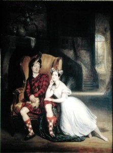 Marie and Paul Taglioni,  'La Sylphide', 1832 (oil on canvas) by Francois Gabriel Guillaume Lepaulle