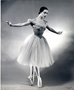 Maria Tallchief, Scotch Symphony, New York City Ballet,  photo © Walter Owen, courtesy NYCB Archives