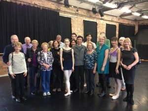 Renaissance Tours group, Queensland Ballet Centre, Li Cunxin centre, with Mary Li behind him, to his right