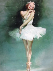 """""""The Dancer"""", portrait oil painting of Irina Baronova in costume for Swan Lake, ca. 1939 / Virgil Reilly, Mitchell Library, State Library of NSW, ML 1309"""