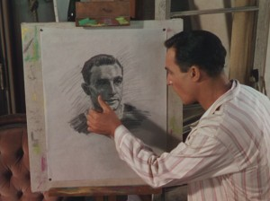 Gene Kelly draws a self portrait in An American in Paris