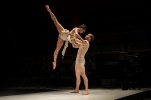 Sydney Dance Company's Les Illuminations, Janessa Duffy and Bernhard Knauer, photo © Peter Greig