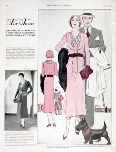Schiaparelli fashion, Ladies Home Journal, 1930s